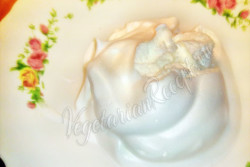 Веганское мороженое из аквафабы
