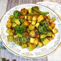 Картофель с броколли и тофу