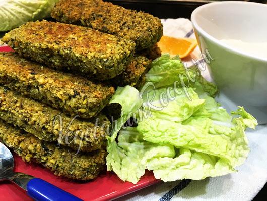 Вегетарианские нутовые палочки - блюдо с рыбным вкусом