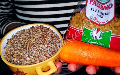 Постные макароны по-флотски - продукты