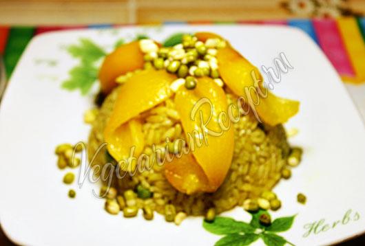 Рис с горошком и кукурузой рецепт