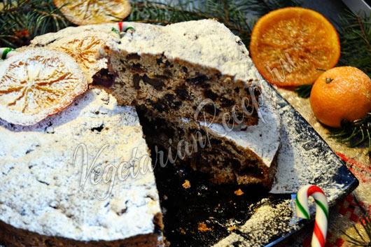 Рецепт - рождественский кекс с сухофруктами и орехами