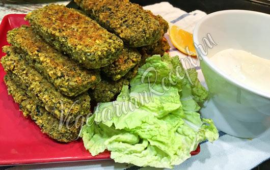 Рыбные палочки из нута вегетарианский рецепт