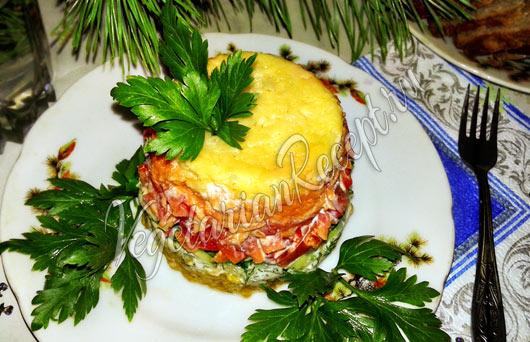 Салат с рисом и овощами рецепт