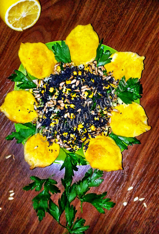 Салат Подсолнух - постный рецепт