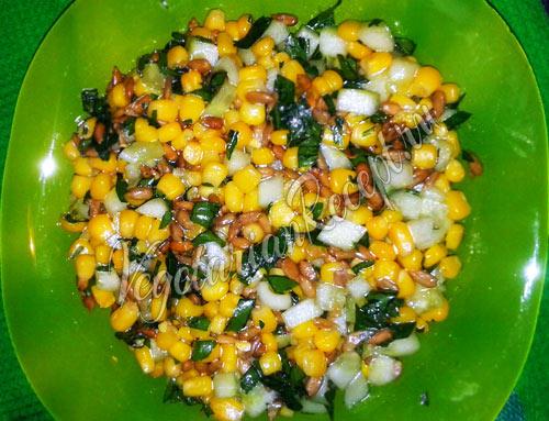 Вегетарианский салат Подсолнух