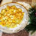 Салат с тофу и кукурузой