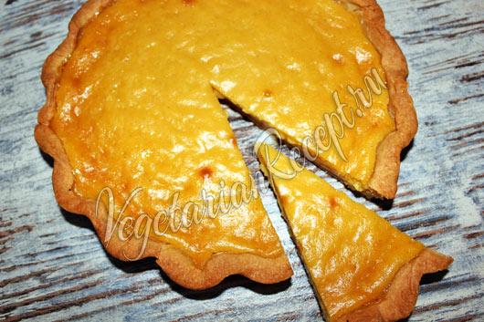 Тыквенный пирог со сгущенкой - фото