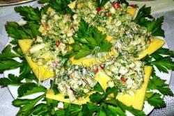 Закусочный салат рецепт с фото