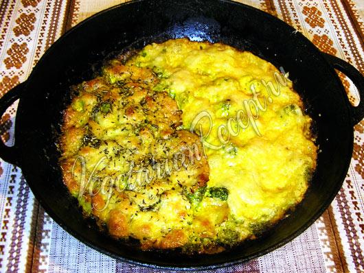 Запеченная в духовке брокколи в сливочном соусе