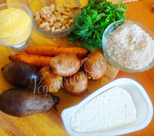 Овощи, фасоль, рис и другие продукты
