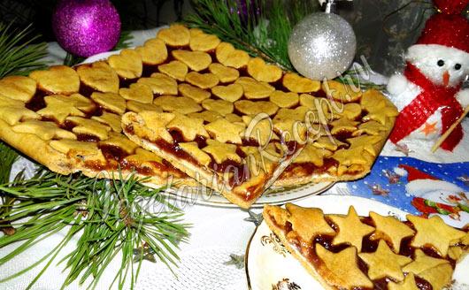 Пирог постный с вареньем