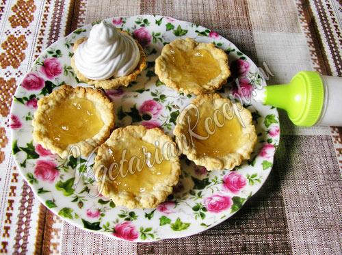 Пирожное Корзинки с кремом