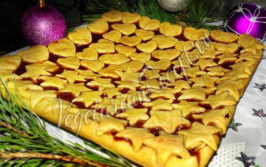 Постный пирог с вареньем, рецепт с фото