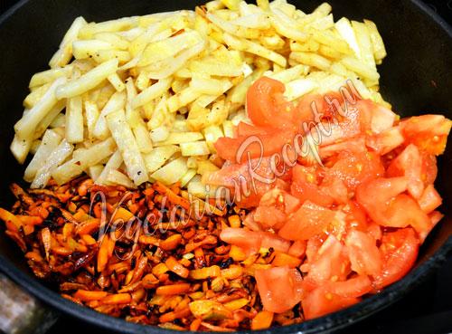 Приготовление теплого салата с сельдереем