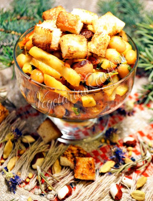 Салат с сельдереем и фасолью