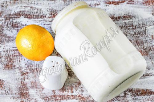 Молоко, лимон и соль