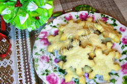 Сырное печенье слоеное