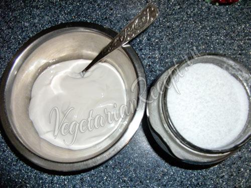 Сливки и сахар для крема
