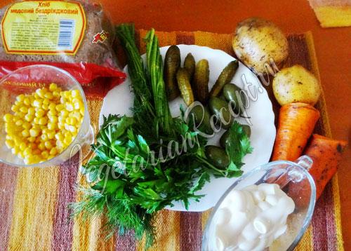 Ингредиенты для рецепта Корзиночки с салатом