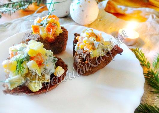 Корзиночки с салатом рецепт