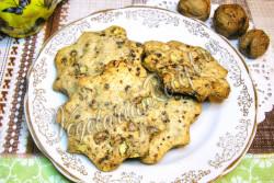 Постное печенье кофейно-ореховое