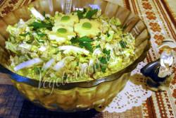 Салат из пекинской капусты с яблоком и сыром рецепт