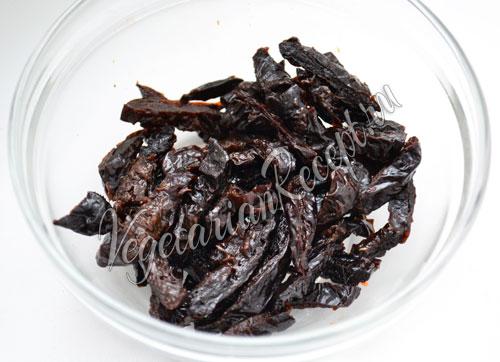 Чернослив режем полосками
