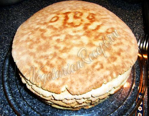 Приготовление торта на сковороде - шаг 13