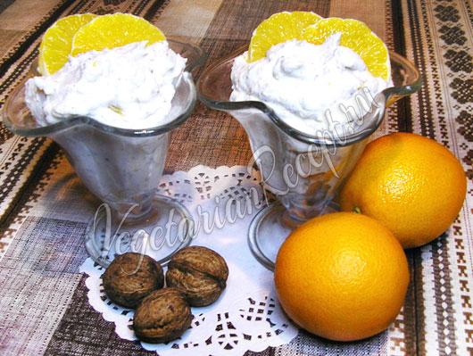 Творог с фруктами и орехами рецепт