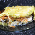 Запеканка из овощей и вегетарианской рыбы