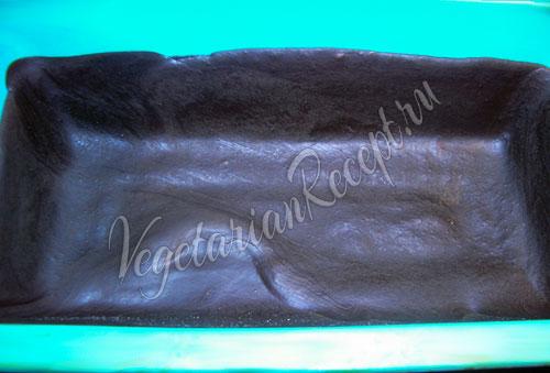 Застывший шоколадный слой для батончика