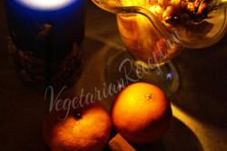 Десерт из мандариновых корок