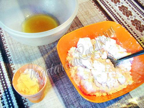 Аквафаба, сахарная пудра и крахмал