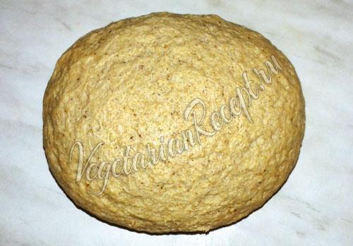 Заварное тесто с ржаной мукой на закваске