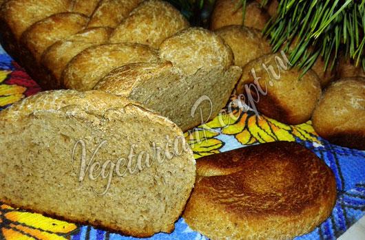 Заварной хлеб с ржаной мукой на закваске