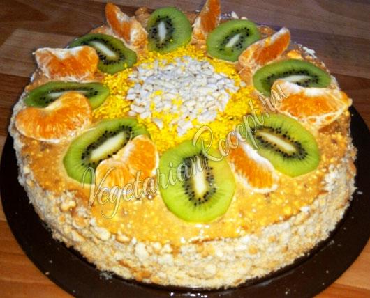 Торт из готовых бисквитных коржей рецепт