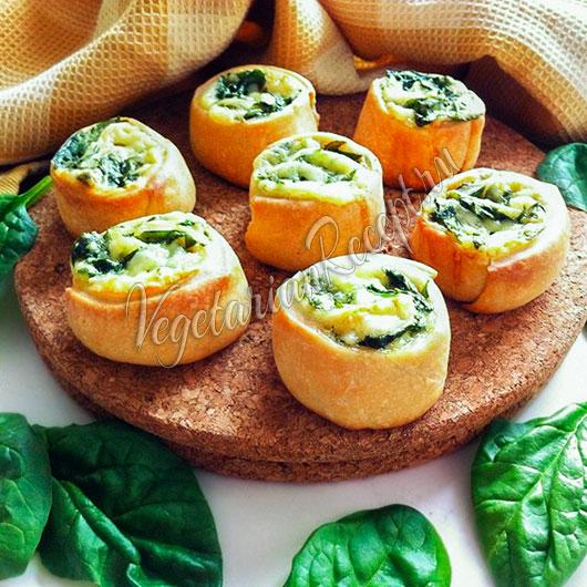 Булочки со шпинатом и сыром