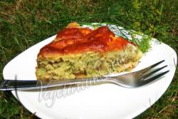 Кабачковый пирог фото