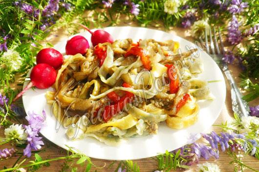 Второе блюдо с запеченными овощами