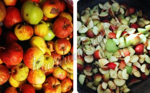 Яблоки для приготовления домашнего уксуса
