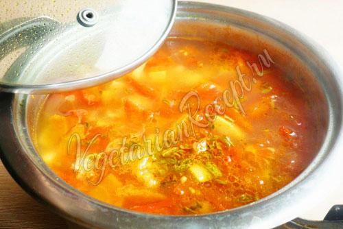 Рецепт - суп с домашней лапшой