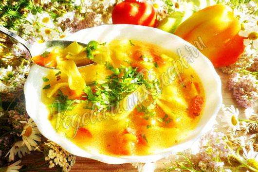 Суп с домашней лапшой - пошаговый рецепт