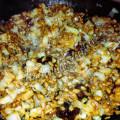 Полба с капустой и соевым мясом