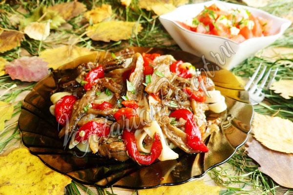 Лапша с овощами - рецепт