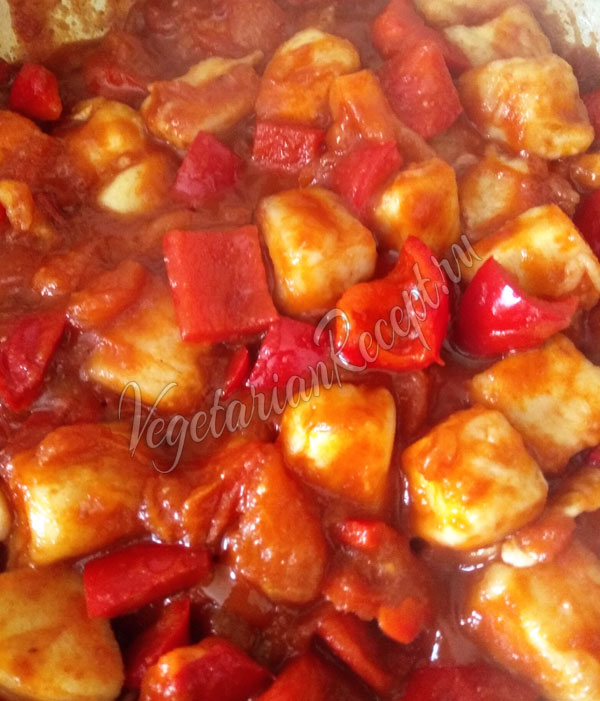 Чили панир - блюдо индийской кухни