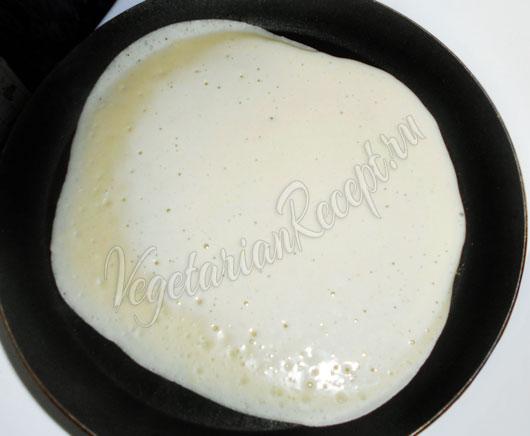 Печем блины на сковороде