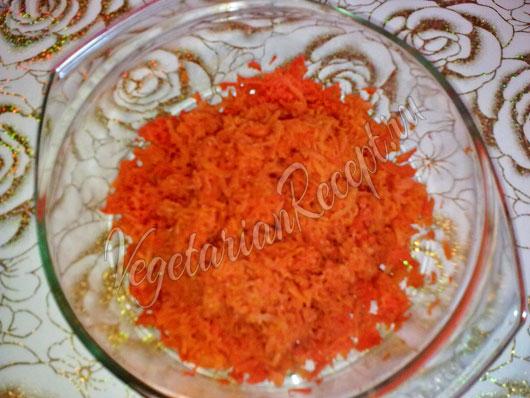 Отваренная и измельченная морковь