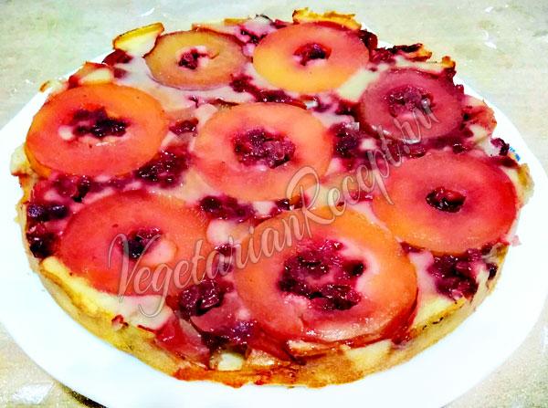 Пирог с брусникой и яблоками рецепт