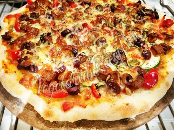 Пицца из теста на закваске